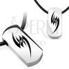 Függő gumizsinóron - törzsi szimbólum acéltáblán
