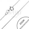 Fényes nyaklánc 925 ezüstből - pálcika elemek, 0,7 mm