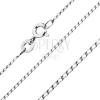 Sterling ezüst nyaklánc - sima, hosszúkás szemek, 0,8 mm
