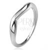 Hullámos gyűrű, sima szárak, hullám, 925 ezüst