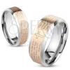 Gyűrű acélból, ezüst és réz szín, Miatyánk imaszöveg, 8 mm
