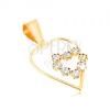 375 arany medál - vékony szabálytalan szív alakú vonal, cirkóniás szív