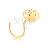 585 arany ívelt orrpiercing - fényes tengeri kagyló