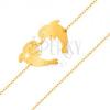 585 arany karkötő - szív körvonalat formázó két delfin, finom lánc