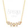 585 arany nyaklánc - finom lánc, öt csillogó körből álló ív