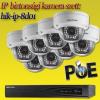 Hikvision 8 dome kamerás 1.3MP PoE IP szett (hik-ip-8d01)