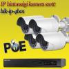 Hikvision 4 bullet kamerás 1.3MP PoE IP szett (hik-ip-4b01