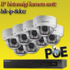 Hikvision 8 dome kamerás 2MP PoE IP szett (hik-ip-8d02)