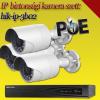 Hikvision 3 bullet kamerás 2MP PoE IP szett - BŐVÍTHETŐ (hik-ip-3b02)