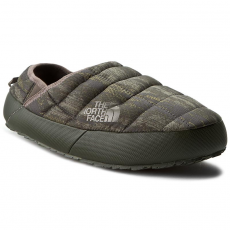 The North Face Zártpapucs THE NORTH FACE - Thermoball Traction Mule II Rosin Green Glamo Print/Caper Berry Green
