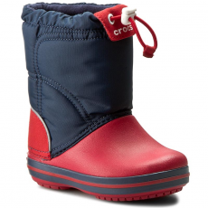 CROCS Csizmák CROCS - Crocband Lodgepoint Boot 203509 Navy/Red