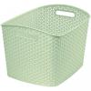 OEM Polirattan kosár STYLE box- XL- krémszínű CURVER