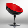 Sarah fotel, forgófotel, bárfotel fekete-piros