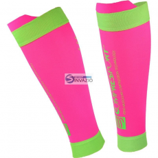 Compressport zokni kompresyjne Compressport Calf R2 V2 Fluo Pink R2V2-FL3430