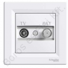 SCHNEIDER ASFORA TV/SAT aljzat, végzáró, INDIV., 1 dB, fehér