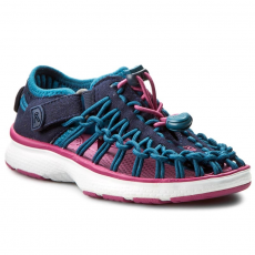 Keen Félcipő KEEN - Uneek 02 1015501 Dress Blues/Very Berry