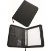 Konferencia mappa, A4, műbőr, gyűrűs szerkezettel, számológéppel,  fekete (IKS1887)