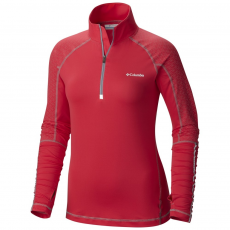 Columbia Trail Flash Half Zip Shirt Sport póló,aláöltöző D (1655001-p_637-Punch Pink)