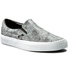 Vans Teniszcipő VANS - Classic Slip-On VN00018DGZN (Pebble Snake) Gray/Black