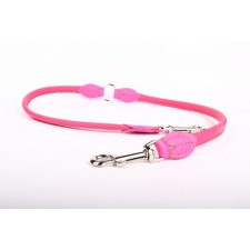 Zooleszcz Bőr póráz ketté osztó - Rózsaszín nyakörv, póráz, hám kutyáknak