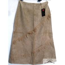 15 darab, homok színű velúr hatású, rojtos, női selyemmel bélelt szoknya csomag, S-XXL-ig /kínai méretezés/ 3 méretsor