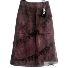 15 darab, sötét barna velúr hatású, rojtos, női selyemmel bélelt szoknya csomag, S-XXL-ig /kínai méretezés/ 3 méretsor