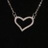JewelOra Sterling ezüst nyaklánc kövekkel díszített szív medállal
