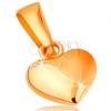 Medál 14K sárga aranyból - szimmetrikus, kidomborodó szív, fényes-matt