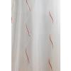 Fehér voila kész függöny piros-fehér nyírt mintával/0016/Cikksz:1122071