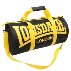 Lonsdale sporttáska, oldaltáska 50x30 cm, fekete-sárga