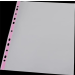 PANTA PLAST Genotherm, lefűzhető, színes szélű, fényes felületű, A4, 40 mikron, PANTA PLAST, rózsaszín