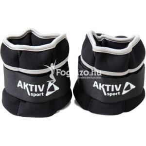 Aktivsport Csukló- és bokasúly Aktivsport 2x1 kg fekete-szürke