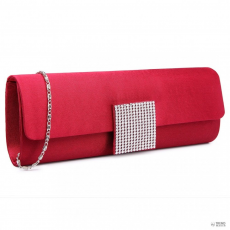 Miss Lulu London LY6681-női Satin Envelope Táska Clutch táska for estélyi Party Bridal Wedding val Detachable Lánc szíj bordó
