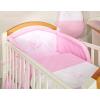 Prémium babaágynemű garnitúra 2 részes hímzett huzat - Álmos maci rózsaszín