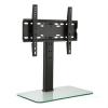 Auna auna TV állvány, M méretű, 56 cm-es magasság, állítható magasság, 23-47 hüvelyk, üveg állvány