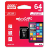 Goodram micro SDXC 64GB Class 10 +adapter