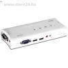 Trendnet TK-409K 4 portos USB2.0 KVM switch audio porttal