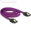 DELOCK SATA 3 F/F adatkábel 1m Premium lila