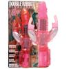 Seven Creations Duplaágú nyuszis vibrátor, gyöngyökkel- pink