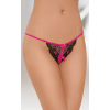Softline Nőies pink-fekete csipkés tanga S/L
