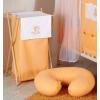 Prémium hímzett szennyes tároló - Felhős maci narancs