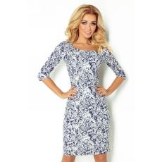 saf Rózsás ruha Model 121-1 kék