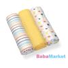 Babyono textilpelenka színes 3db 382/01 sárga
