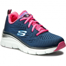 Skechers Félcipő SKECHERS - STatement Piece 12704/NVHP Navy/Hot Pink