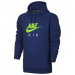 Nike Large Logo Air férfi kapucnis felső, Deep Royal/Electric Green, XL (810806-491-XL)