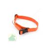 Nylon nyakörv 25 x 650 állítható nyakörv műanyag csattal narancs