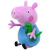 Ty. Plüss figura Beanie Babies Peppa Pig Lic 28 cm - George