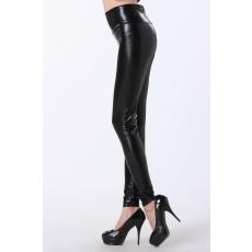 Fekete magasított derekú legging