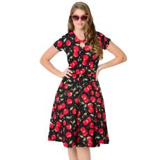 1950s Style Cseresznyés swing ruha