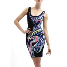 Multicolor bodycon ruha